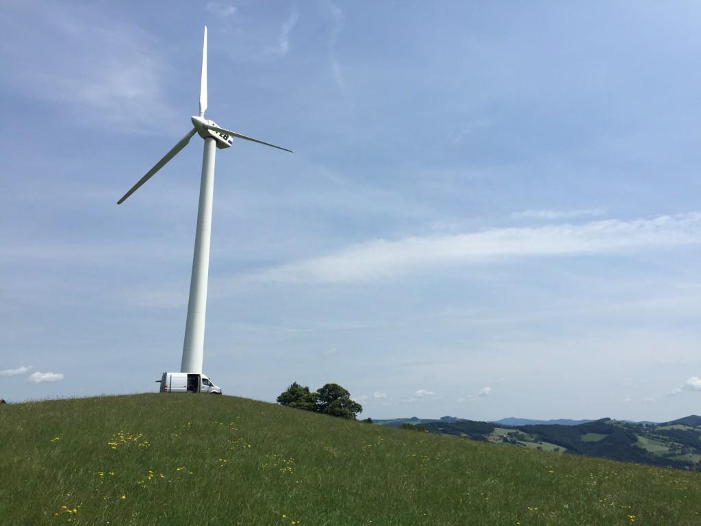 Das älteste Windkraftwerk von WEB in Michelbach